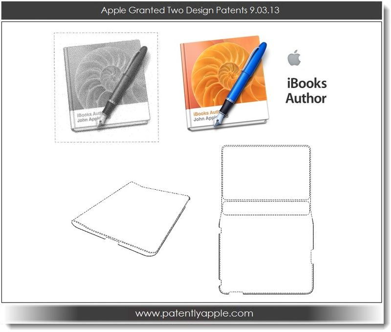 6. Apple Granted 2 design patents - iBooks Author logo and original iPad cover