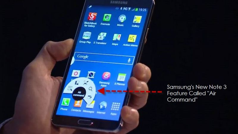 2A. New Samsung UI feature for Note Called the Air Command