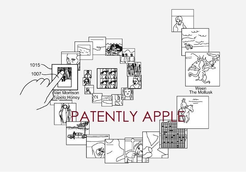3. Apple Spiral UI patent figure