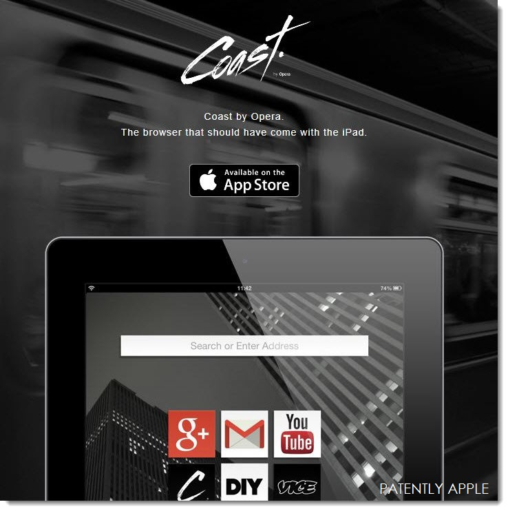 2. Apple iPad Coast - a New Opera Browser for the iPad
