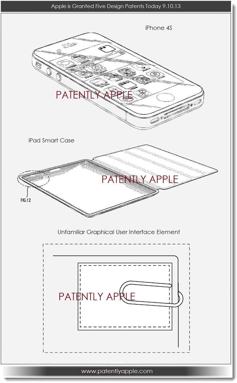 4. Apple wins design patents for iPhone 4S, iPad Smart Case & Unfamiliar GUI element
