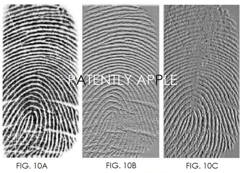 5. APPLE PATENT FIGS. 10a-10c are fingerprint images showing horizontal and vertical differences