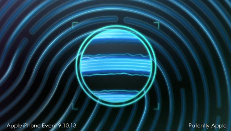6C. Apple Touch ID ridges of your fingerprint