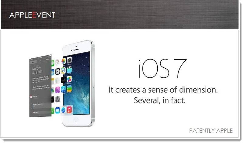 1 - Cover graphic, iOS 7 fulfills patent in-part