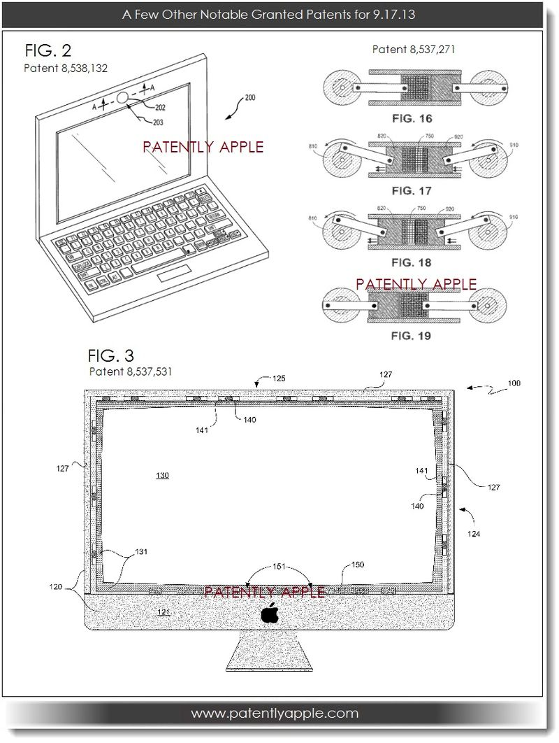 5. A few other notable granted patents for 9.17.13