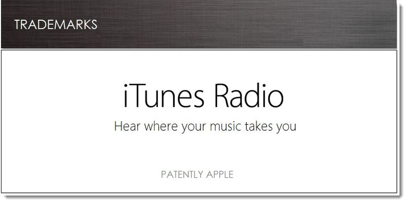 1. Cover - Apple files for iTunes Radio TM