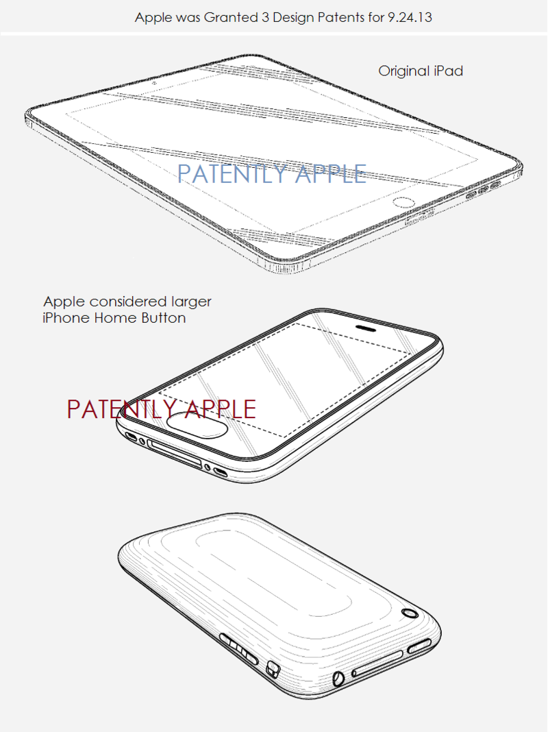 6. Apple granted 3 design patents