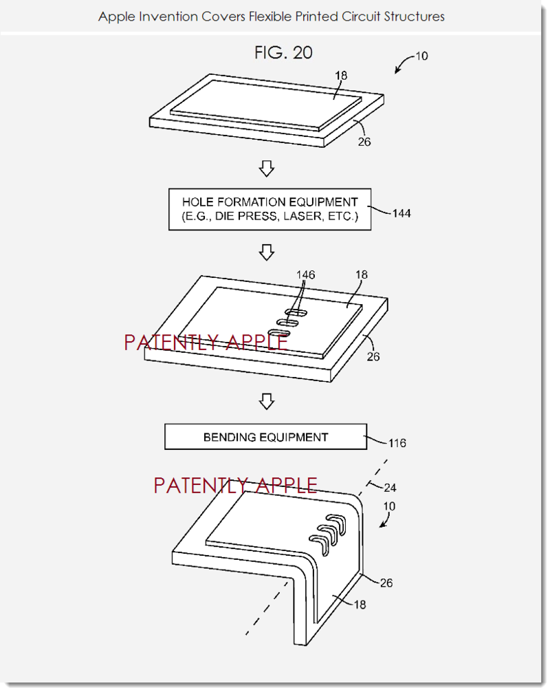 6. Apple invention covers flexible printed circuit structures