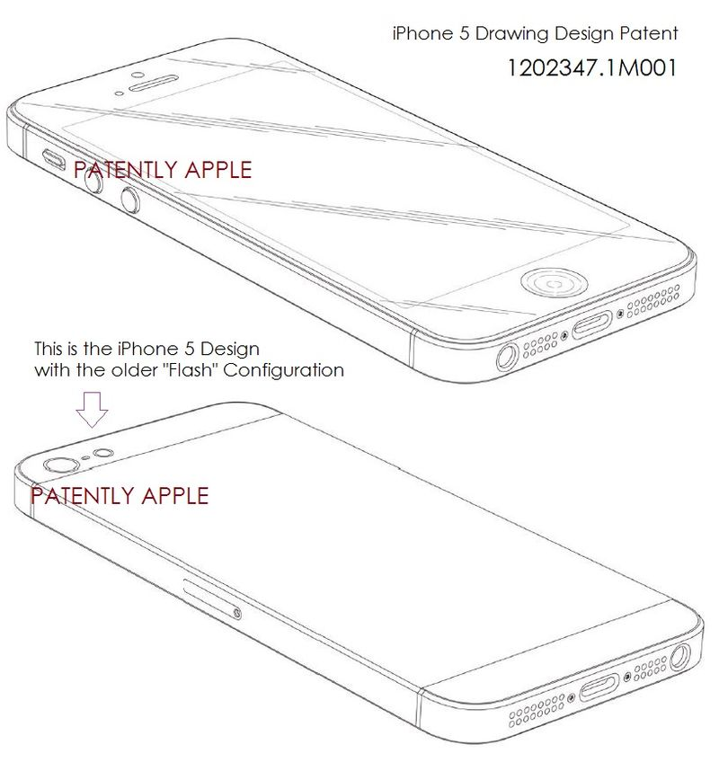 9 IPHONE 5 DRAWING DESIGN PATENT