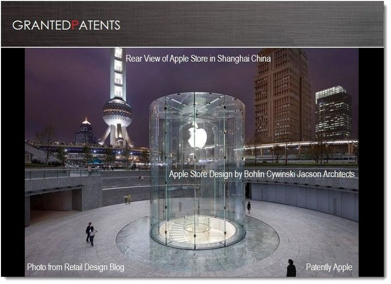 1. Cover - Apple Shanghai Store Glass bldg design granted patent