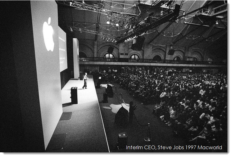 4. Interim CEO Steve Jobs 1997 Boston