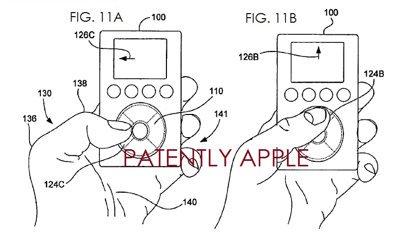3. Apple granted a patent for touch pad for hand held device - clickwheel related