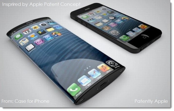 3A. curved-iPhone-concept designed from an Apple Patent application