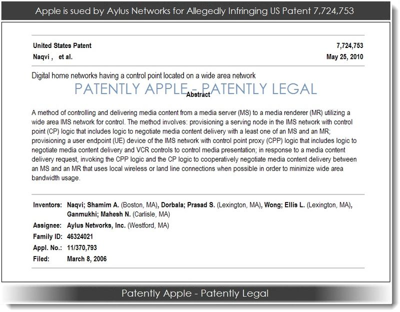2. Apple sued by Aylus Networks