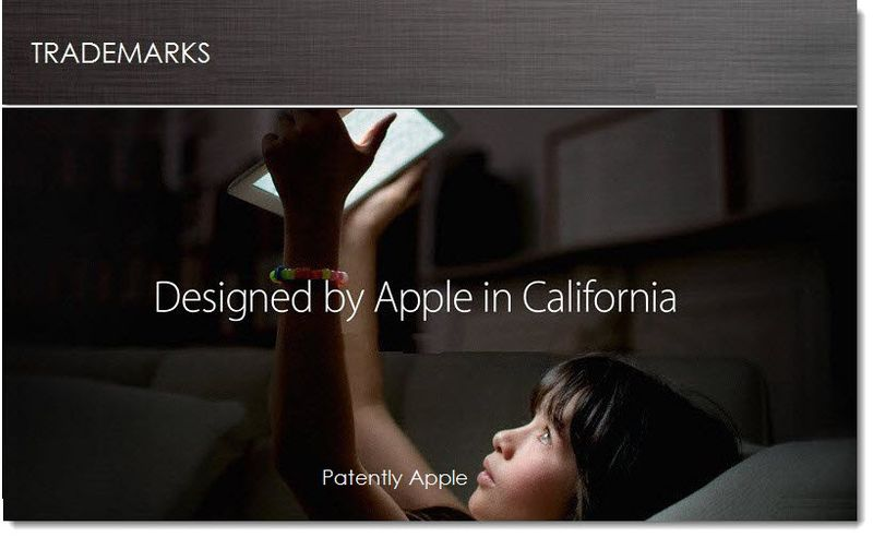 1. Cover - Apple Seeks Designed by Apple in California Trademark