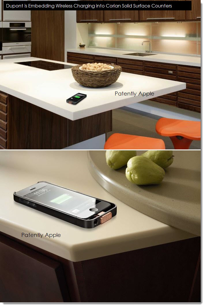 2A. Dupont embedding wireless charging solution into corian counter top surfaces with PMA