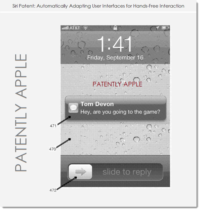 3. Siri patent - automatically adapting UI's for hands-free Interaction