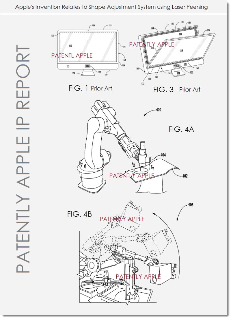 2A. Apple patent - shape adjustment using laser Peening