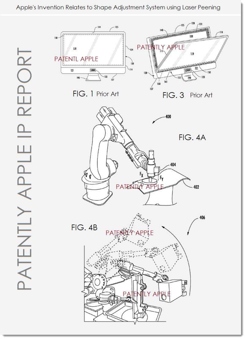 2A. Apple patent - shape adjustment using laser Peening