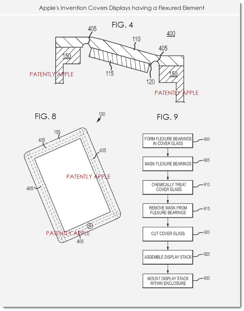 5. Apple patent - displays having a flexured element