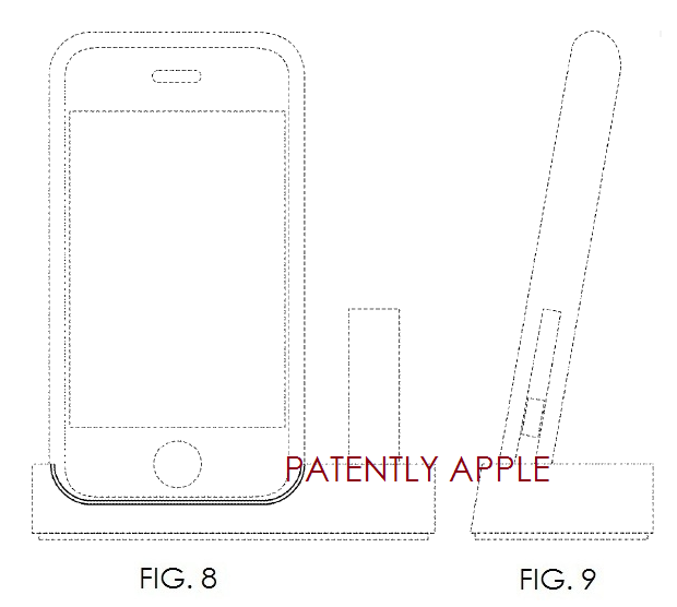 4a. Apple granted a patent for first 2007 iPhone stand with bluetooth headset slot