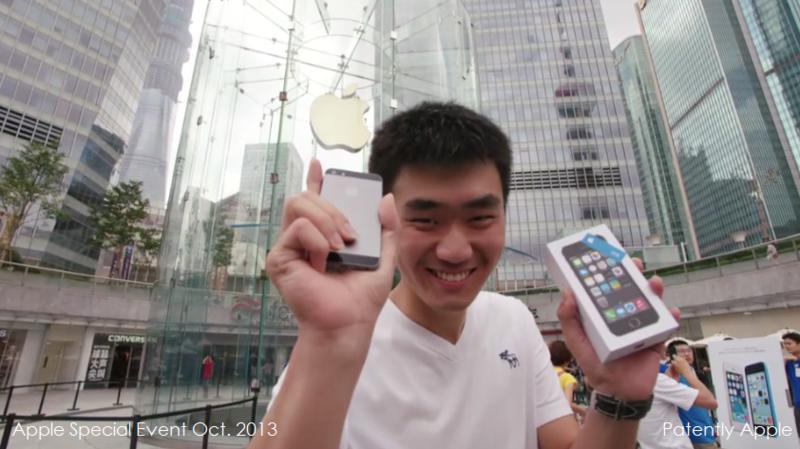 33. Apple fan in Shanghai Apple Store, China