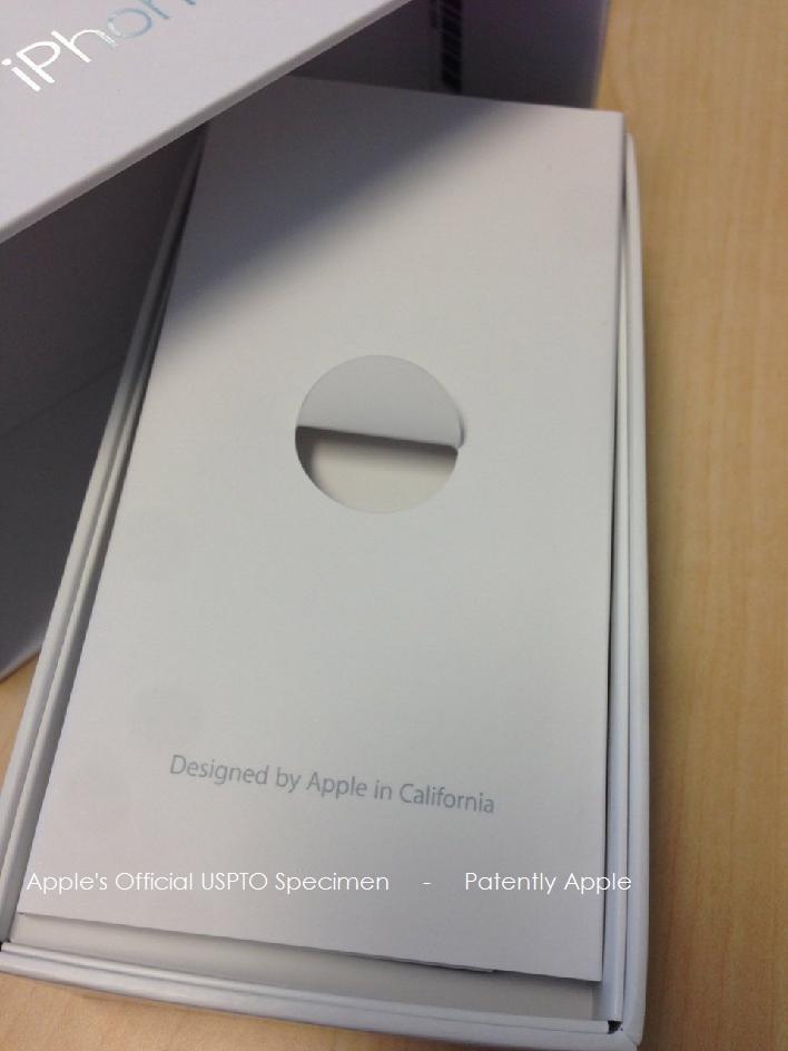 3. Apple official USPTO Specimen for Designed by Apple in California
