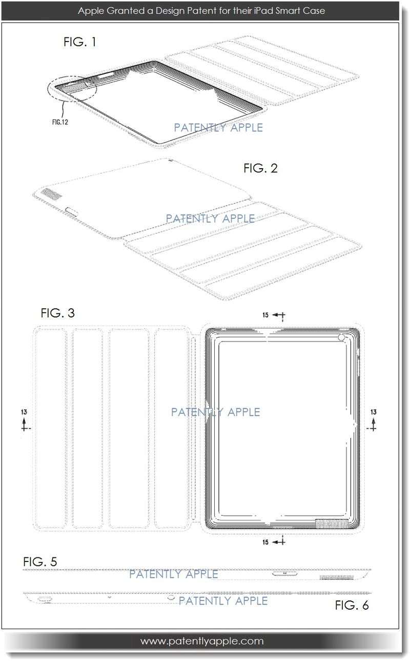 5. Apple design patent - iPad Smart Case