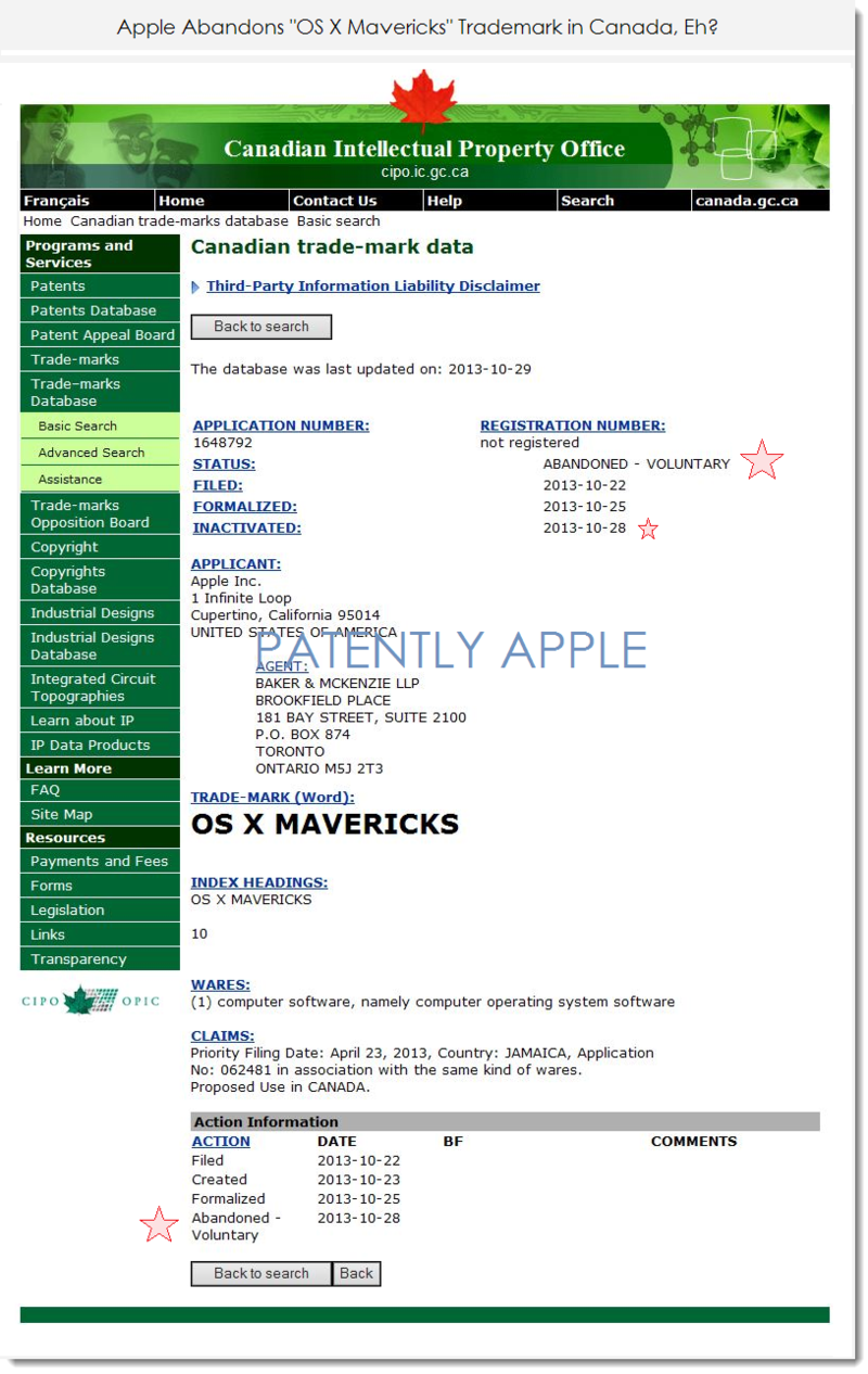 2. Apple abandons OS X Mavericks in Canada Oct 28, 2013