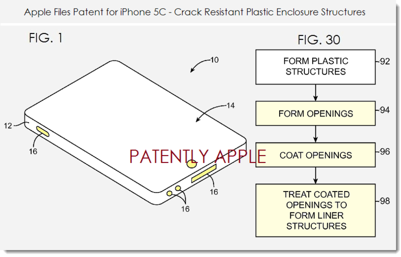 6. Apple patent filing for crack resistant plastic enclosure structure