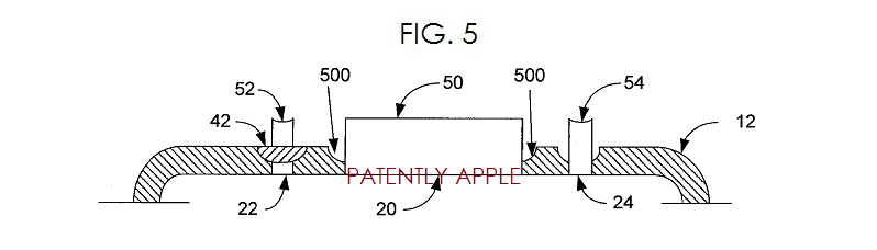 4. Apple patent fig. 5 liquidmetal composition for bottom of iPhone