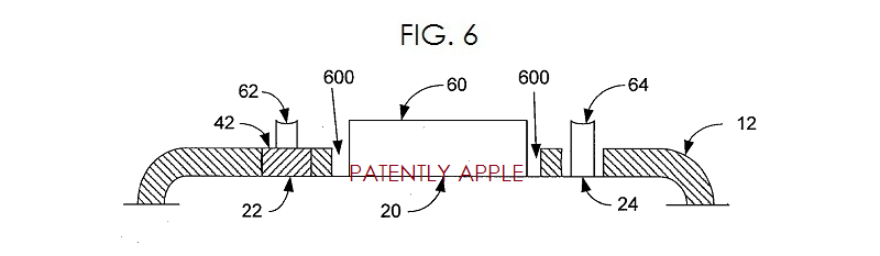 5. Apple patent fig. 6 - bottom construction of iPhone with liquidmetal compositions
