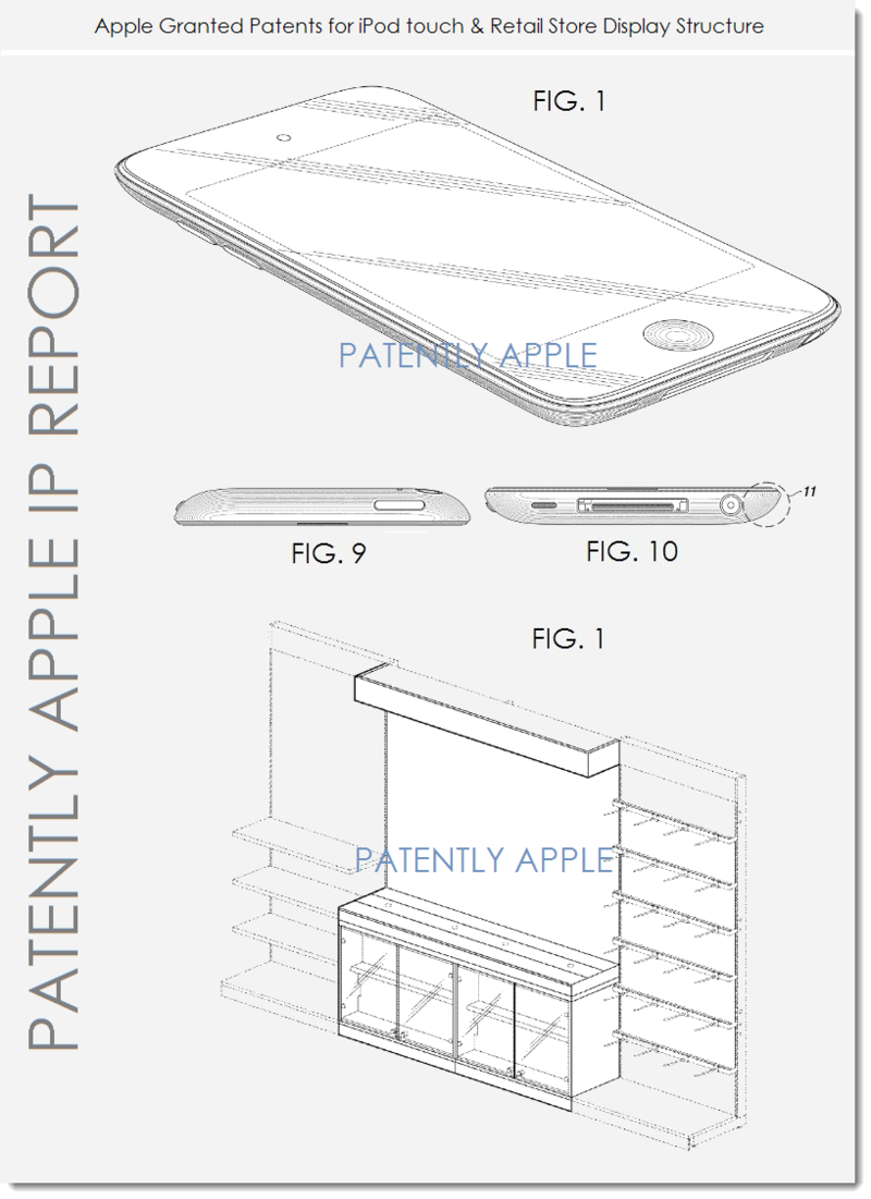 5 Apple Granted Patents for iPod touch & Retail Store Display Structure
