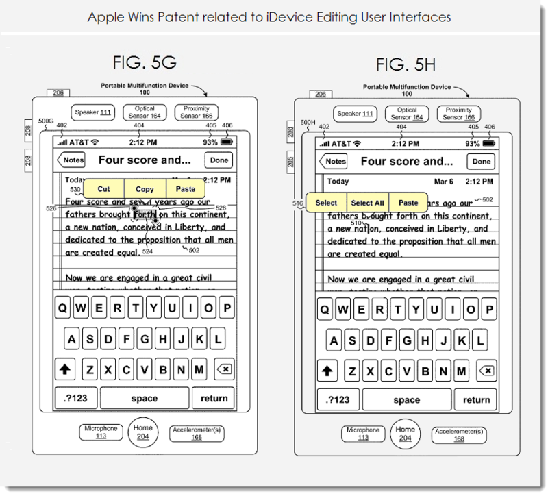 4. Apple wins patent for editing GUI's for iDevices
