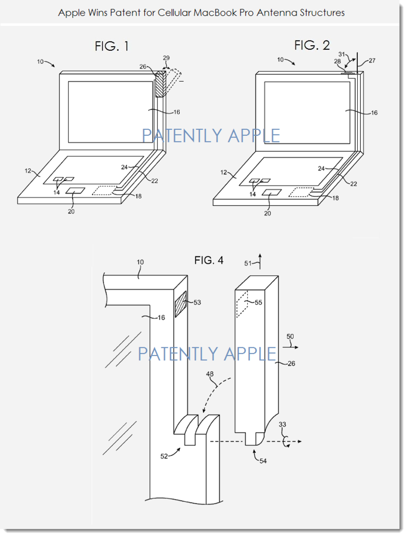 2. Apple wins patent for cellular MacBook Pro Antenna structures