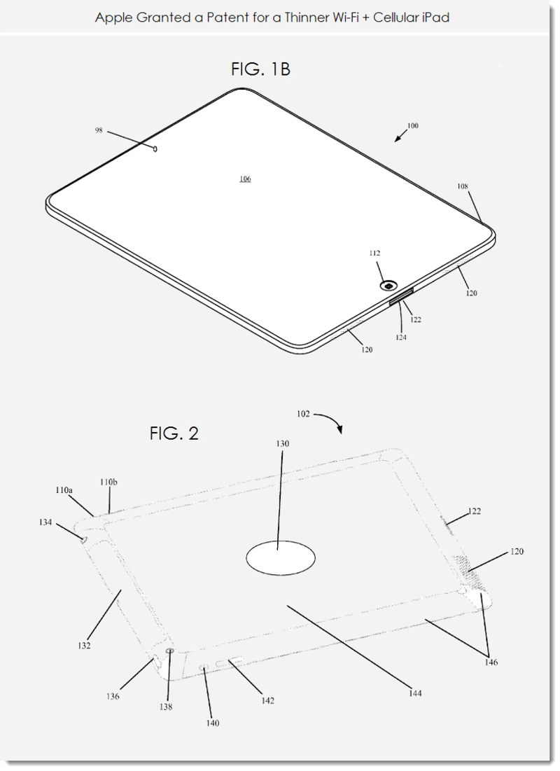 2. Apple granted patent for a thinner iPad