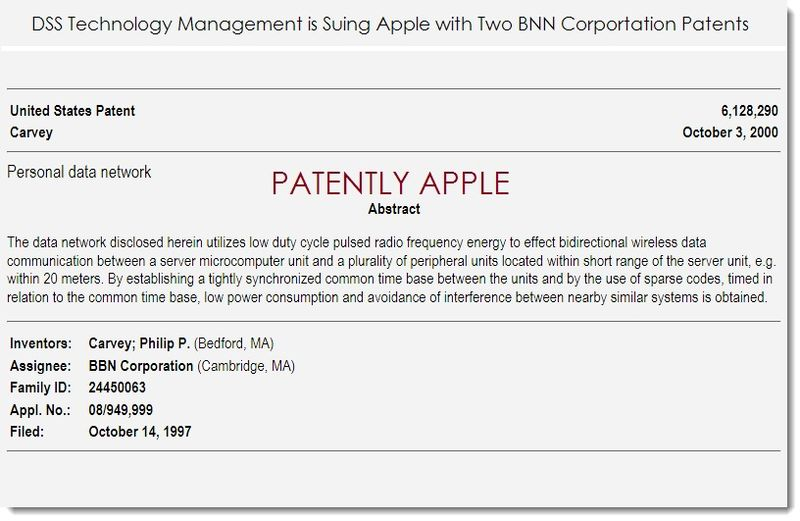2. DSS uses 2 BNN Corp patents in lawsuit against Apple