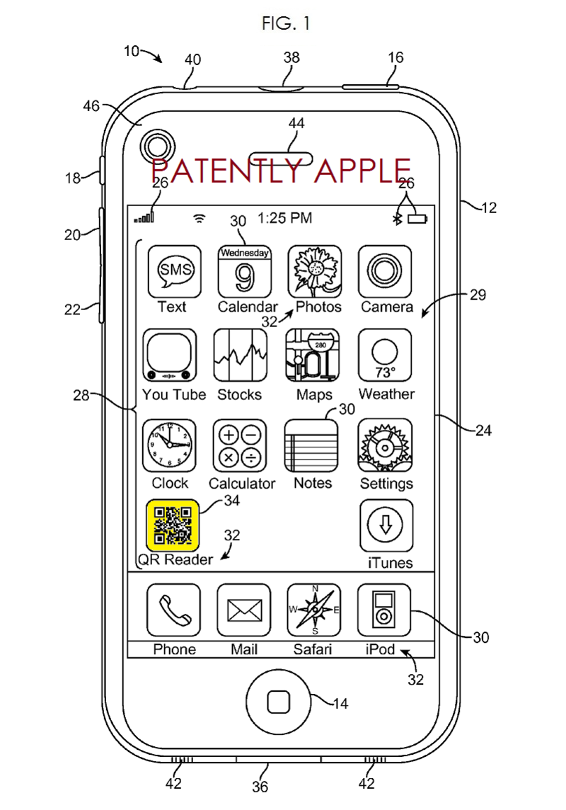 2. Apple patent fig. 1 QR Reader