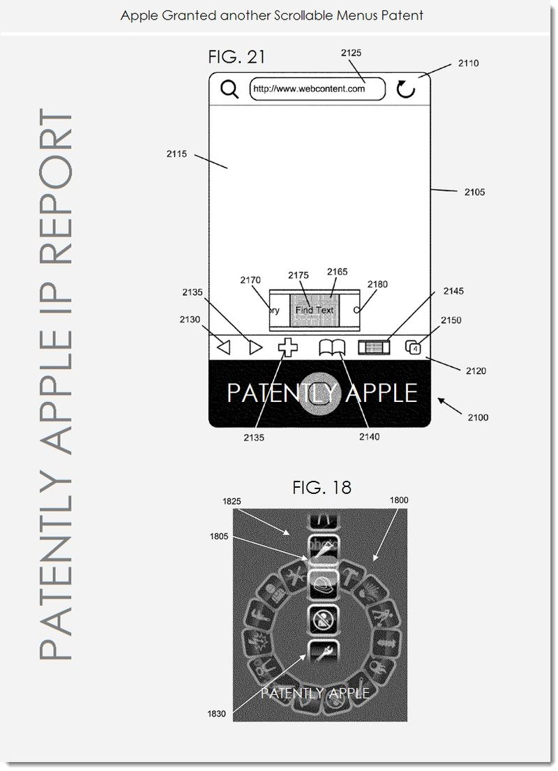 2. Apple wins another scrollable menus patent