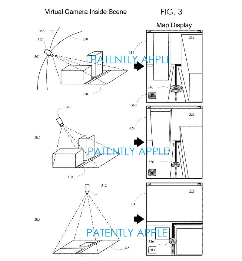 2 Apple maps patent virtual camera