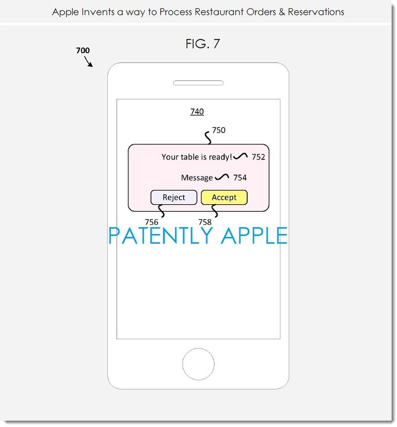 4. Apple invents restaurant order and reservation system - fig. 7
