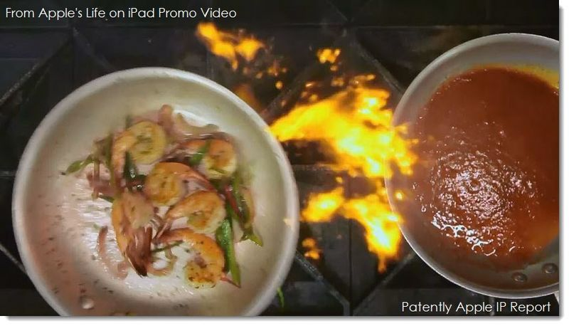 5. Apple - life on iPad - photo from video pointing to the iPad in restaurants and ordering