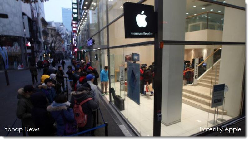 2A Apple store Korea, fans line up for iPad