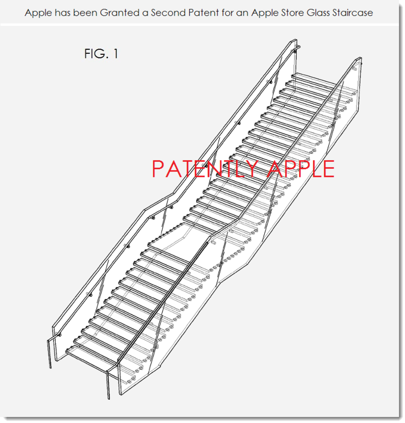 3. Apple granted 2nd patent for an Apple Store Glass Staircase