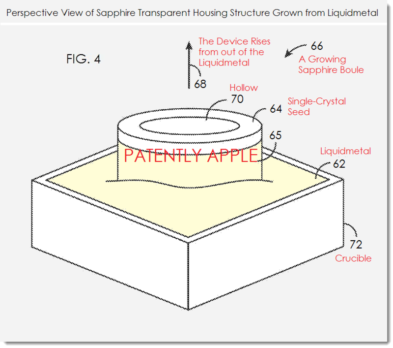 2. Apple patent - Sapphire Transparent housing grown from liquidmetal
