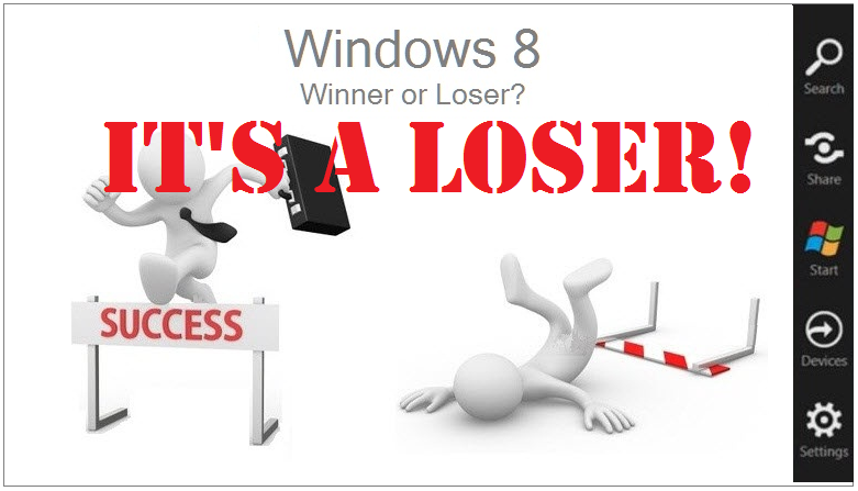 2. Windows 8 - Metro UI - Winner of loser - it's a loser