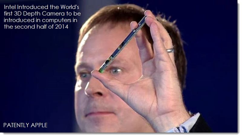 9.  Intel announces industry's first 3D Depth Camera for 2014