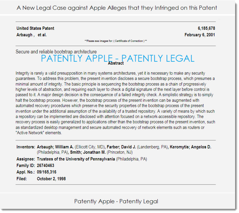 2. patent 6,185,678