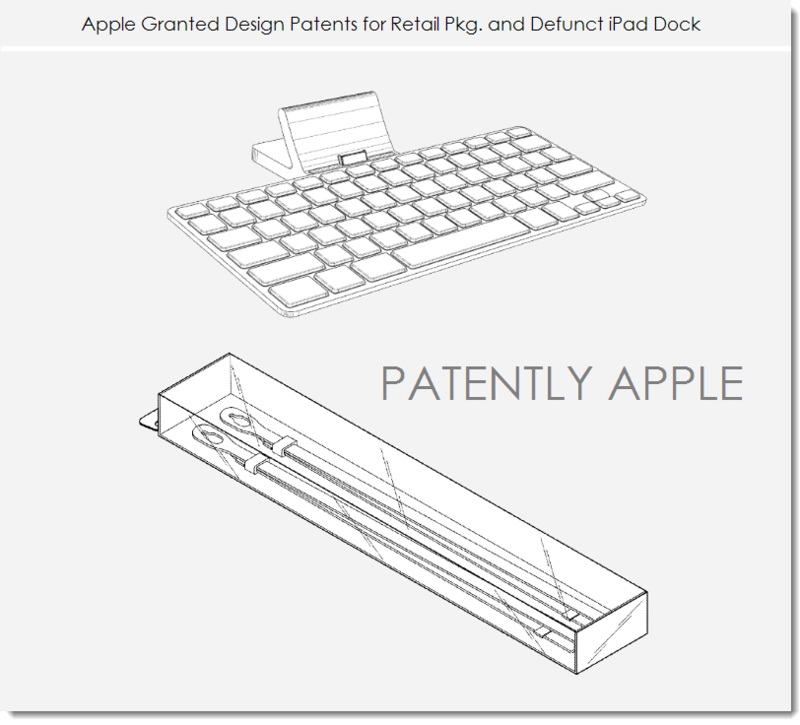 4. Apple Granted design patents for a new video icon, defunct dock, Retail Pkg