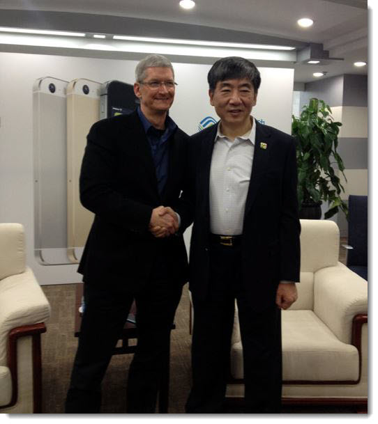 3. Apple - Mobile China CEO's shaking hands on Jan 15, 2014